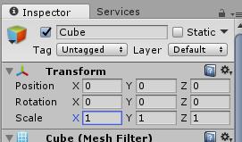 Unity/InspectorのTransform