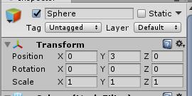 CollorBall/SphereのTransform