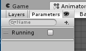 Person Control/Animator、Parameters、Running