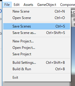 Save Scenes/Save Scene as