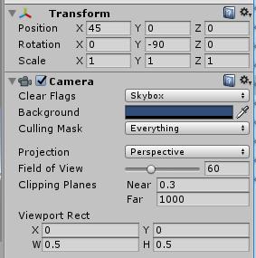 Camera3のTransformとViewport Rect