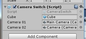 CameraSwitchにCubeとCamera2つ入れる
