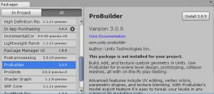 ProBuilder階段/インストール