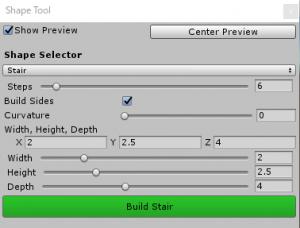ProBuilder階段/Shape Tool