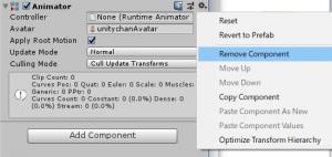 もっとスカイリム風/Animator/Remove Component
