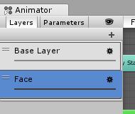 ユニティちゃん表情/AnimatorController/Faceレイヤー作る