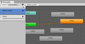 ユニティちゃん表情/AnimatorController/Base Layerにセット