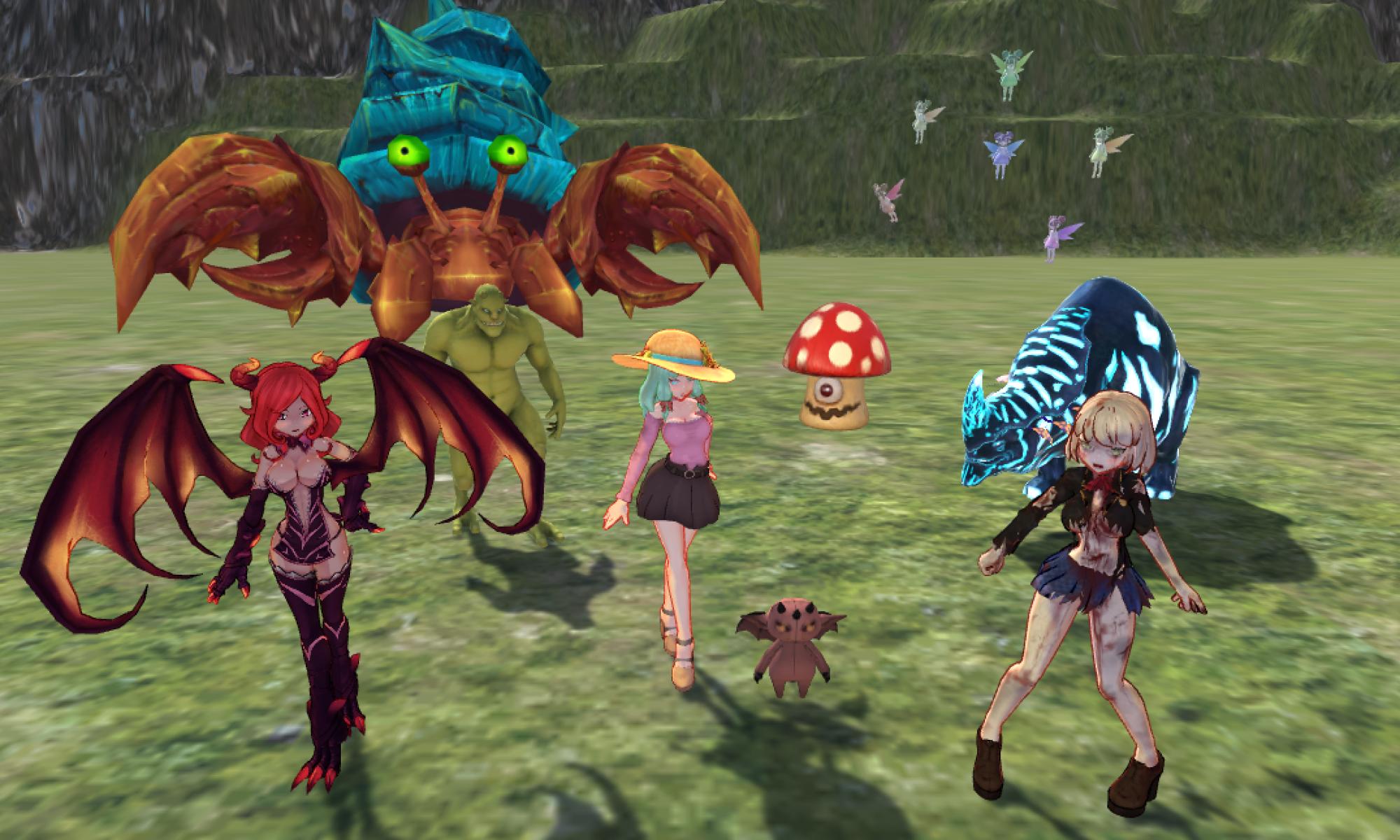 Unityで魔物使い♀ゲームを作る
