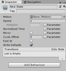AnimatorController/State/Inspector