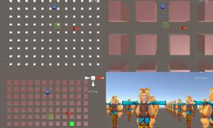 【UnityC#講座】オブジェクトを縦横規則正しく並べて生成、色を変える、子オブジェクトにして検索する