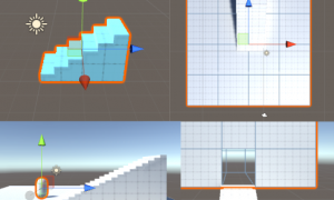 【UnityC#講座】一番簡単な階段の作り方と上り方