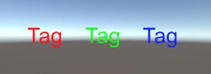 TagをStringで/3D Text