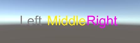TagをStringで/3D Textをタグごとに色替える