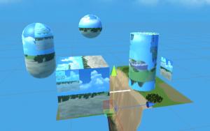 Render Texture/Cube、Sphere,Capsule、Cylinder