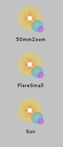 Lens Flare/Assetアイコン
