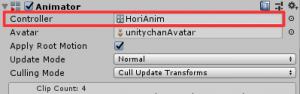 左右で方向転換/AnimatorController/Animatorにセット