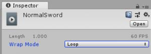 一人称移動剣/アニメーションクリップ/NormalSwordアイコン/Wrap Mode/Loop