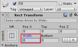 SliderHPBar/Fill/Rect Transform