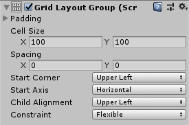 Button整列&キー選択/Grid Layout Group