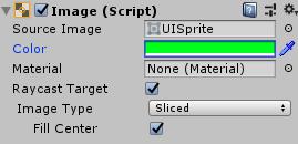 SliderHPBar/Fill/Imageコンポーネント