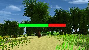 SliderHPBar/Source ImageをNoneで四角くなる