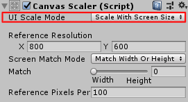 SliderHPBar/Canvas Scaler/RenderMode/Scale With Screen Size