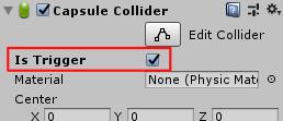 SliderHPBar/Inspector/CapsuleCollider/IsTrigger