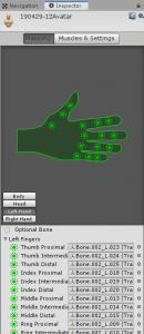 人体骨格Humanoid/Muscles & Settings/Left Hand