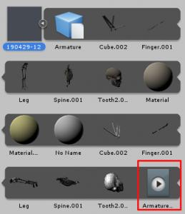 人体骨格Humanoid/AnimationClipの在り処