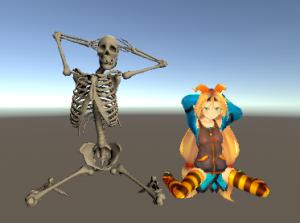 人体骨格Humanoid/Blender製ポーズ/ユニティちゃんと