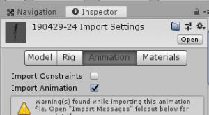 アニメ倒れたら浮く/Inspector/Animationタブ