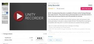 UnityRecorder/アセットページ