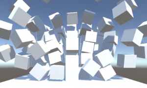 【UnityC#講座】Cubeの壁を爆破する【AddExplosionForce】