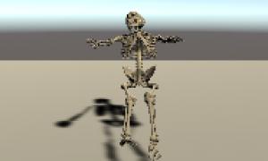 【Blender】倒れるアニメーション、Unityだと浮かんでいる件