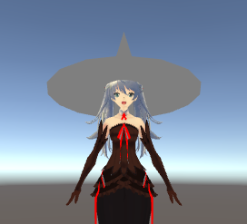 魔女の帽子問題/ウェイトつけたらマテリアルで色つかなくなった
