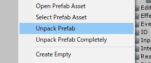 乗馬アセット/Unpack Prefab
